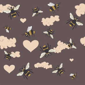 Silly Bees Brown