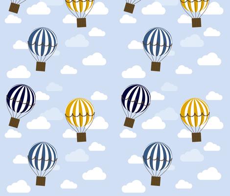 Nursery Hot Air Balloons fabric by kathrinlegg on Spoonflower - custom fabric