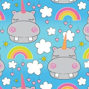 unicorn hippos and rainbows