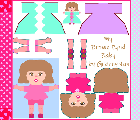 BrownEyedBabyPlus fabric by grannynan on Spoonflower - custom fabric