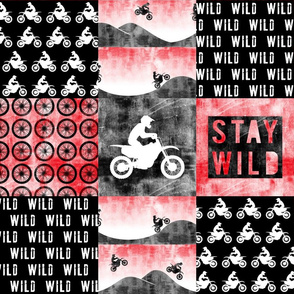 Motocross Patchwork - Stay Wild - Red