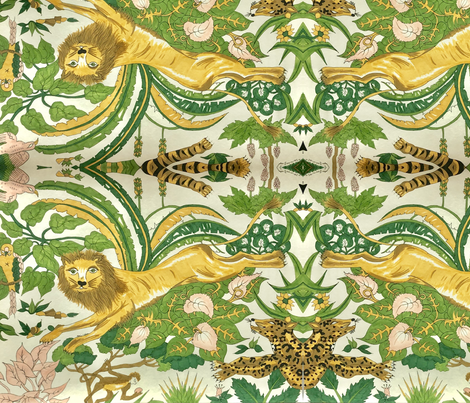 jungle boogie: the lion fabric by marie-clare on Spoonflower - custom fabric