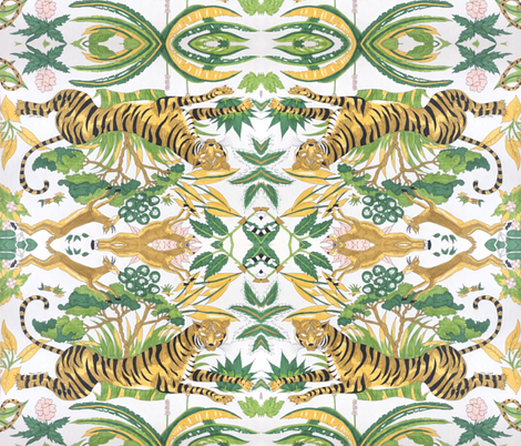 jungle boogie: the tiger fabric by marie-clare on Spoonflower - custom fabric