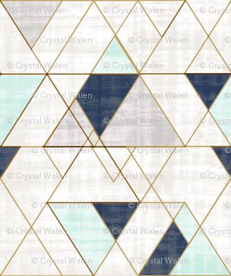 Mod Triangles XL Vintage Navy Mint