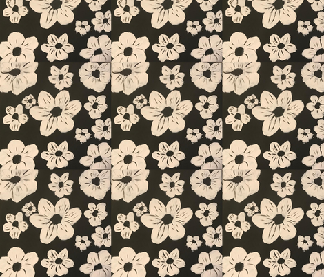 black and white fabric by mary'sart on Spoonflower - custom fabric