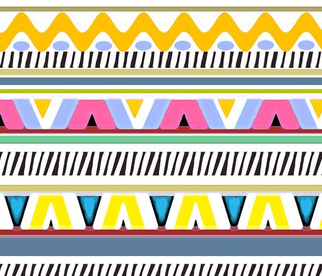 PRETTY STRIPES -A  fabric by soobloo on Spoonflower - custom fabric