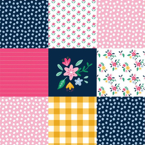 Cheater Quilt Preppy in Pink