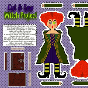 Cut and Sew Witch Project