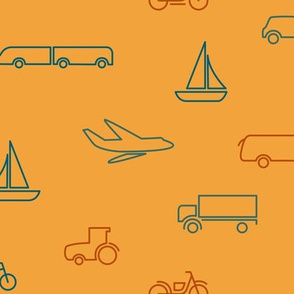 transportation pattern  yellow-medium