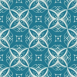 Thai Inspired Pattern Blue