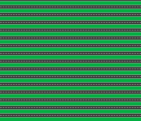 FS Construction Road Street Stripe Green fabric by fern&sterling on Spoonflower - custom fabric