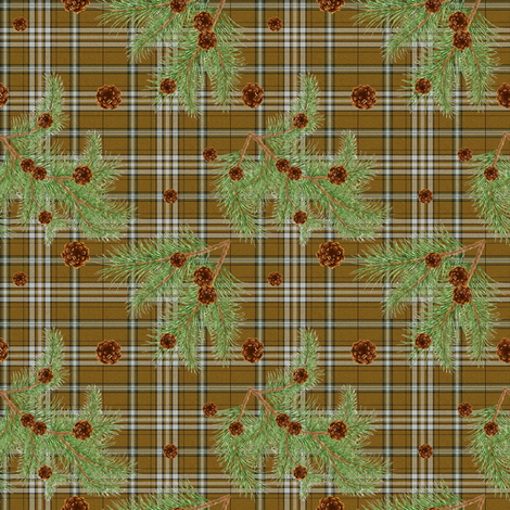 Blairhoyle Forest Tartan mini fabric by lilyoake on Spoonflower - custom fabric
