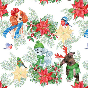 Lovely animals.Christmas patterns