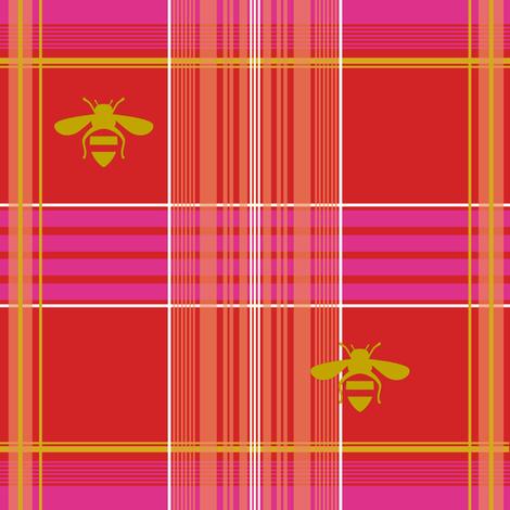 Edmund Tartan strawberry fabric by lilyoake on Spoonflower - custom fabric