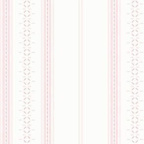 Leafpoint Stripe: Millennial Pink