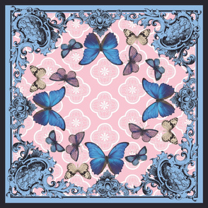 Butterfly Border Scarf