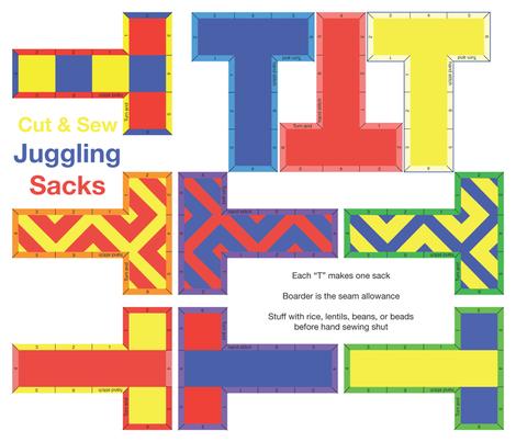 Cut N Sew Juggling Sacks fabric by fickettfabric on Spoonflower - custom fabric