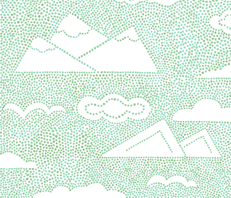 Dot Calm  in natural turquoise fabric by gartmanstudio on Spoonflower - custom fabric