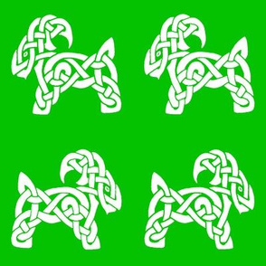 Celtic Goat 1 green and white