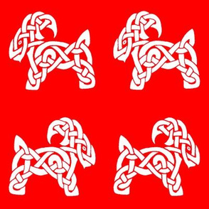 Celtic Goat 1 red and white