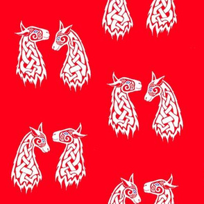 Celtic Llama 2 white and red