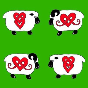 Celtic Ram and Ewe 1 green