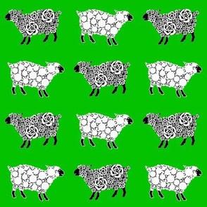 Cottonball Celtic Sheep Xmas green
