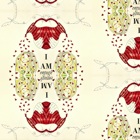 I AM enough fabric by sowgoodgreta on Spoonflower - custom fabric