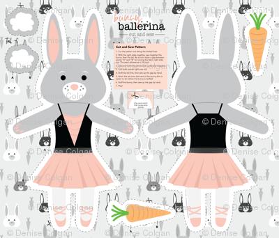Bunny Ballerina Cut and Sew Plushy Project