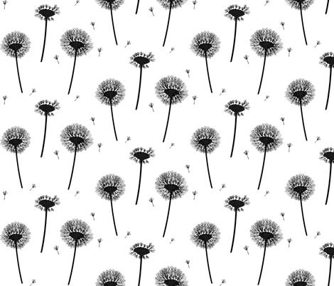 dandelion fabric by cottonwood_designs on Spoonflower - custom fabric