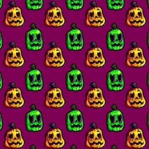 Halloween pumpkins dark  purple