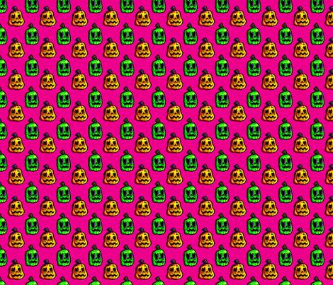 pumpkins purple fabric by victoriapittman on Spoonflower - custom fabric