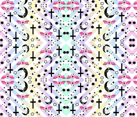 Pastel Goth fabric by jfabrics on Spoonflower - custom fabric