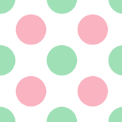 Mint and Pink Polka Dots