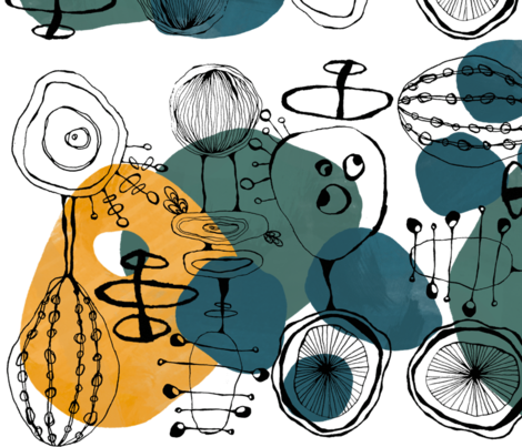 Color Pop Retro Mod fabric by jordi_lister on Spoonflower - custom fabric
