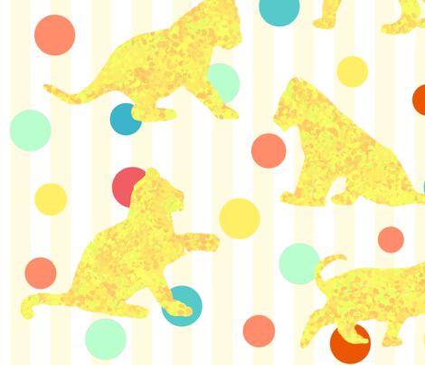 Little Lions fabric by julia_diane on Spoonflower - custom fabric