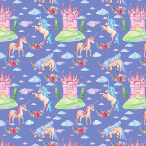 unicorns fairy pattern
