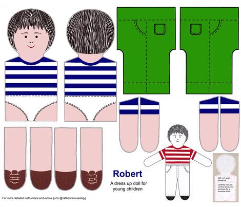 Robert a dress up doll kit fabric by kitty_legg on Spoonflower - custom fabric