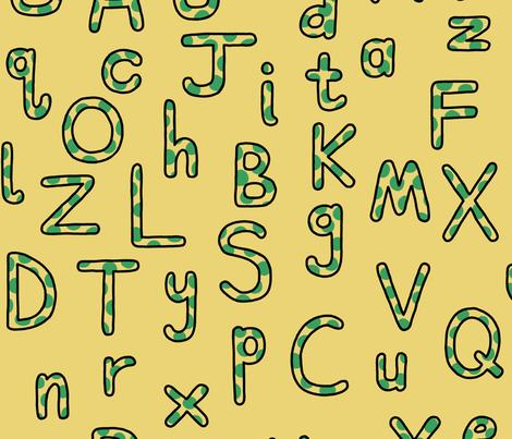Lively Splotch Alphabet fabric by mongiesama on Spoonflower - custom fabric