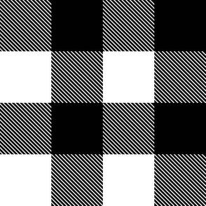 tartan black and white