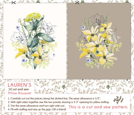 Lauren's Bouquet fabric by lauren_mccrea on Spoonflower - custom fabric
