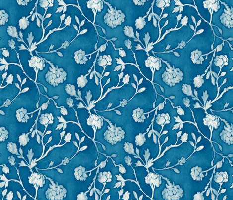 Chinoiserie Floral fabric by kezia on Spoonflower - custom fabric