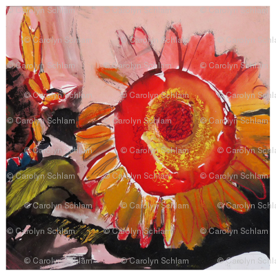 Schlam_ Carolyn-Red Sunflower-for pillow