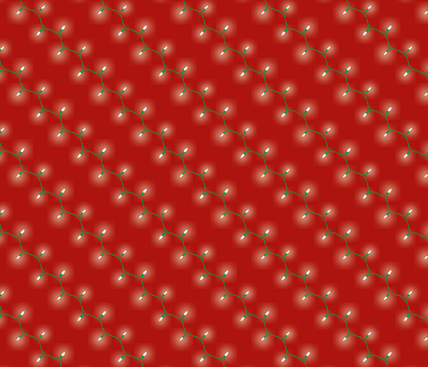 Christmas Lights - Larger fabric by fickettfabric on Spoonflower - custom fabric