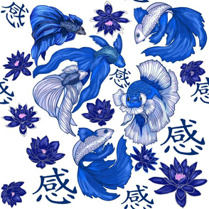 Chinoiserie Fighting Fish large print