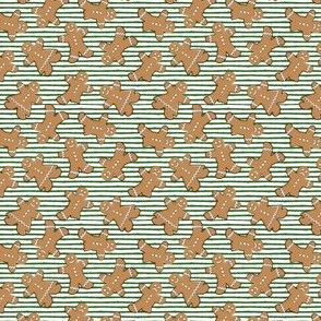 "(3/4"" scale) gingerbread man cookie toss on green  C18BS"