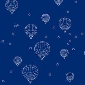 balloons and stars on navy