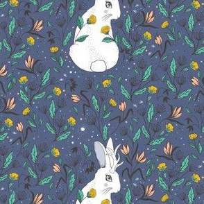 Jackalope Floral, Winter Colors, Big