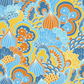 Psychedelic Retro Floral Pattern