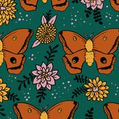 Polyphemus Moths (green background)
